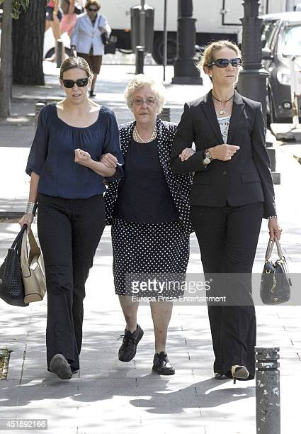 Princess Elena of Spain attend the funeral for Crista of Bavaria at Almudena cathedral on July 8 2014 in Madrid Spain