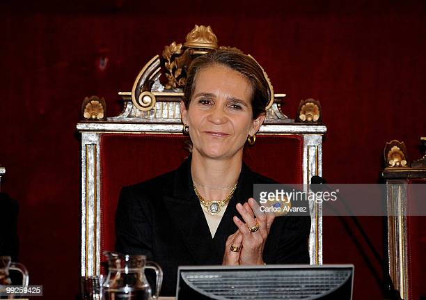 """Princess Elena of Spain attends a meeting with """"Salud 2000"""" Foundation on May 13, 2010 in Madrid, Spain."""