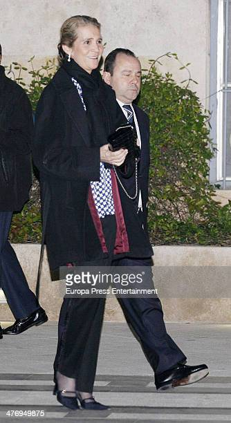 Princess Elena of Spain attends a screening of a documentary about King Paul I of Greece on March 5 2014 in Athens Greece