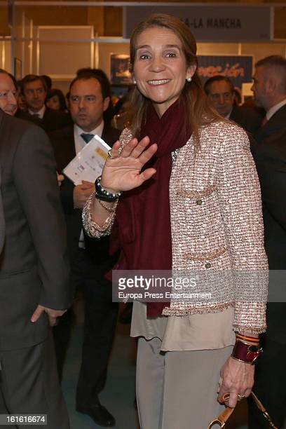Princess Elena of Spain attends 'Aula 2013' at Ifema on February 13 2013 in Madrid Spain
