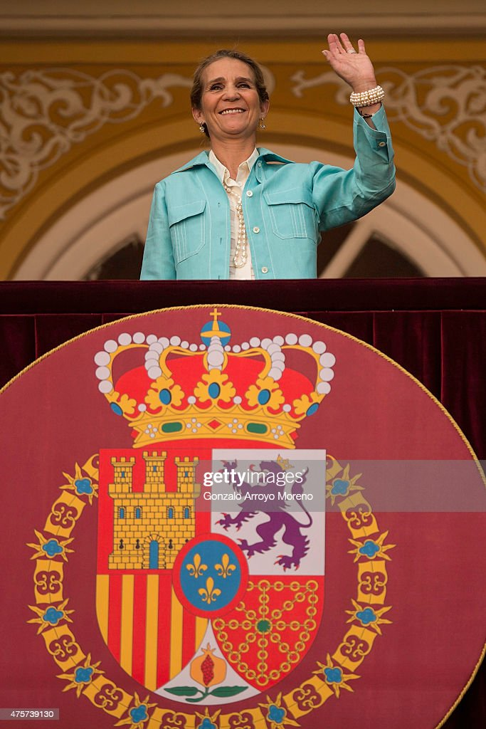 Princess Elena of Spain attends Beneficencia bullfight at Las Ventas Bullring on June 3, 2015 in Madrid, Spain.