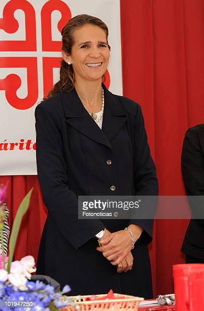 Princess Elena of Spain attends 'Caritas Charity Day' at the Banco Popular Espa�ol on June 10, 2010 in Madrid, Spain.