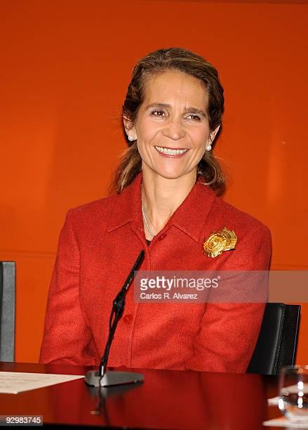 "Princess Elena of Spain attends charity campaign ""Un Juguete una Ilusion"" 10th anniversary press conference at RTVE building on November 11, 2009 in..."