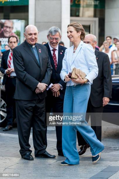 Princess Elena of Spain attends 'Charity Day' on June 15, 2017 in Madrid, Spain.