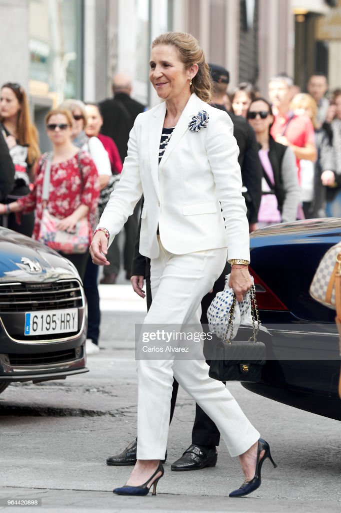 Princess Elena Attends 'Charity Day' in Madrid