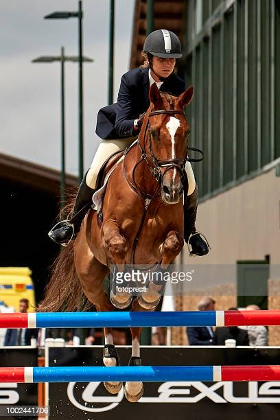Marta Ortega and Carlos Torretta attend during CSI Casas Novas Horse Jumping Competition on July 20 2018 in A Coruna Spain
