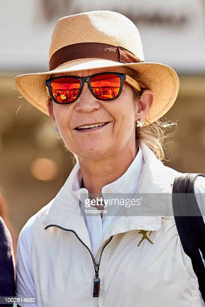 Princess Elena of Spain attends during CSI Casas Novas Horse Jumping Competition on July 20 2018 in A Coruna Spain