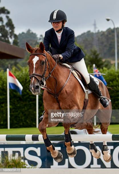 Princess Elena of Spain attends during CSI Casas Novas Horse Jumping Competition on July 21 2018 in A Coruna Spain