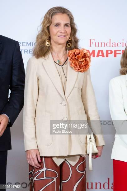 Princess Elena of Spain attends 'Fundacion Mapfre Awards 2018' at Casino de Madrid on June 12, 2019 in Madrid, Spain.