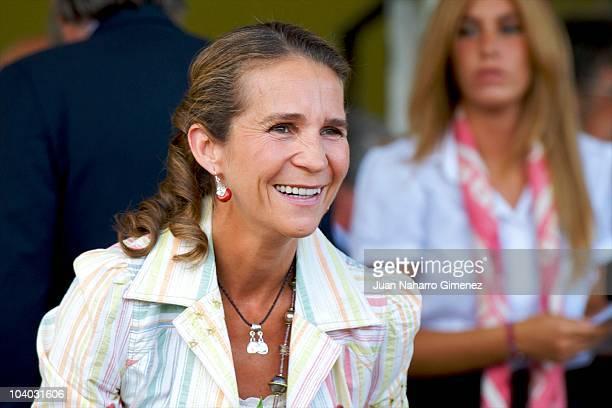 Princess Elena of Spain attends horse jumping competition 'Copa SM el Rey Trofeo el Corte Ingles' at Club de Campo Villa de Madrid on September 12...