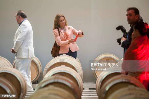 Princess Elena of Spain attends Macan Winery inauguration on June 16 2017 in Alava Spain