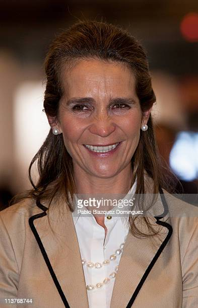 Princess Elena of Spain attends 'Madridfoto' International Photography Exhibition at IFEMA on May 5 2011 in Madrid Spain