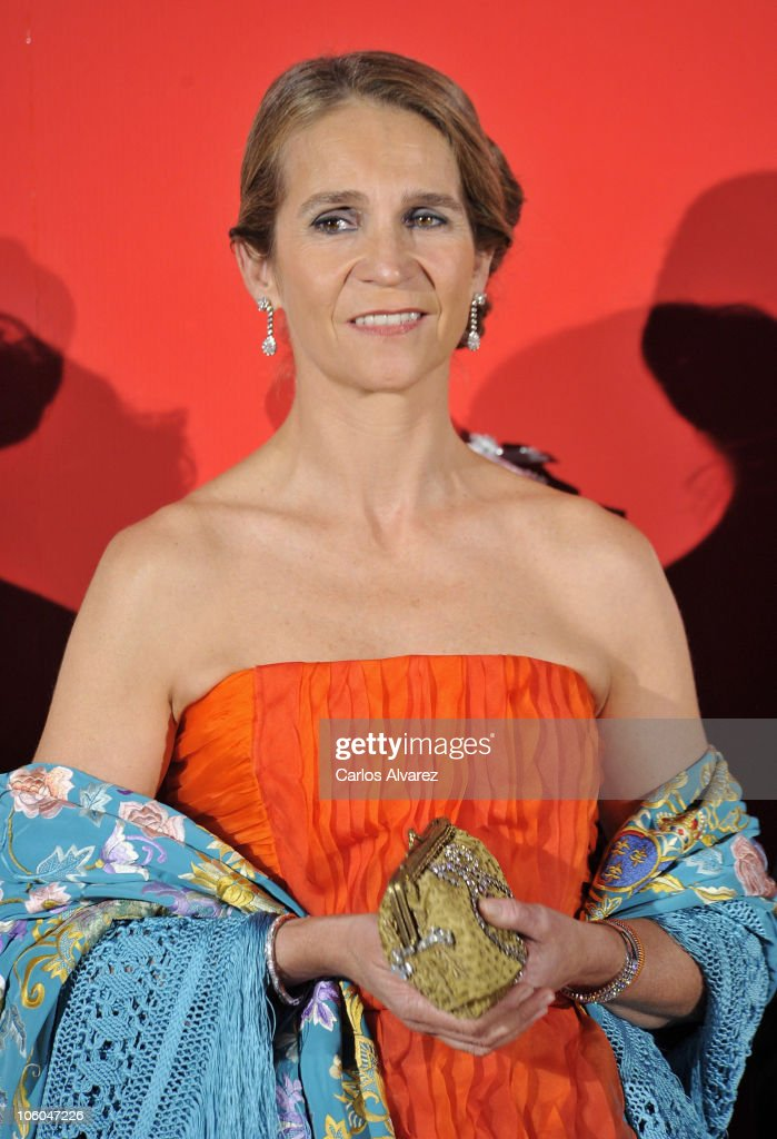 Princess Elena of Spain attends 'Telva' Awards 2010 at Palacio de Cibeles on October 25, 2010 in Madrid, Spain.
