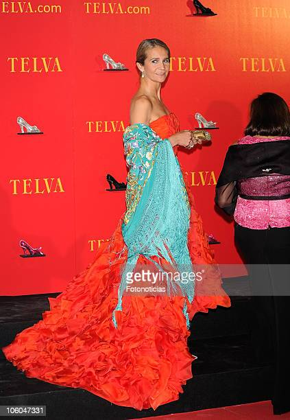 Princess Elena of Spain attends Telva Awards 2010 at the Palacio de Cibeles on October 25, 2010 in Madrid, Spain.