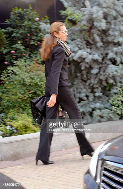 Princess Elena of Spain attends the funeral chapel for Prince Kardam of Bulgaria on April 8 2015 in Madrid Spain