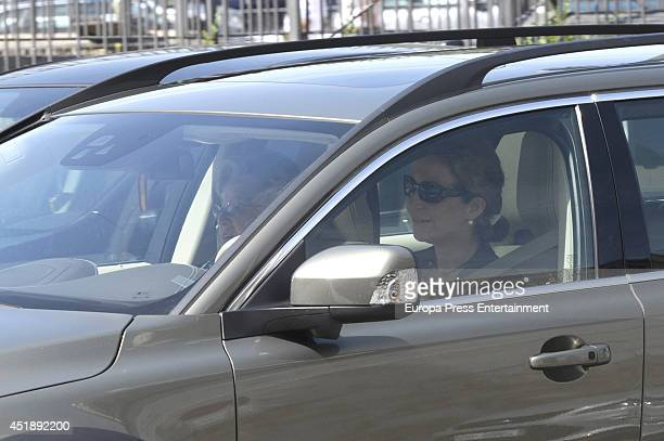 Princess Elena of Spain attends the funeral for Crista of Bavaria at Almudena cathedral on July 8 2014 in Madrid Spain