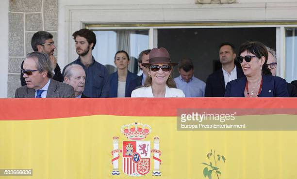 Princess Elena of Spain attends the Global Champions Tour show jumping tournament on May 22 2016 in Madrid Spain