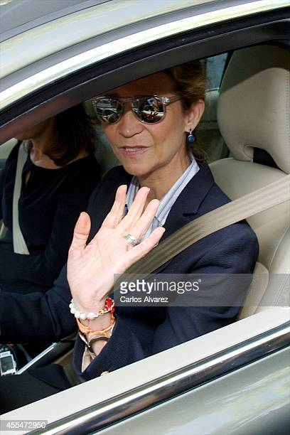 """Princess Elena of Spain attends the memorial service for Spanish businessman and President of """"El Corte Ingles"""" Isidoro Alvarez at the Isidoro..."""
