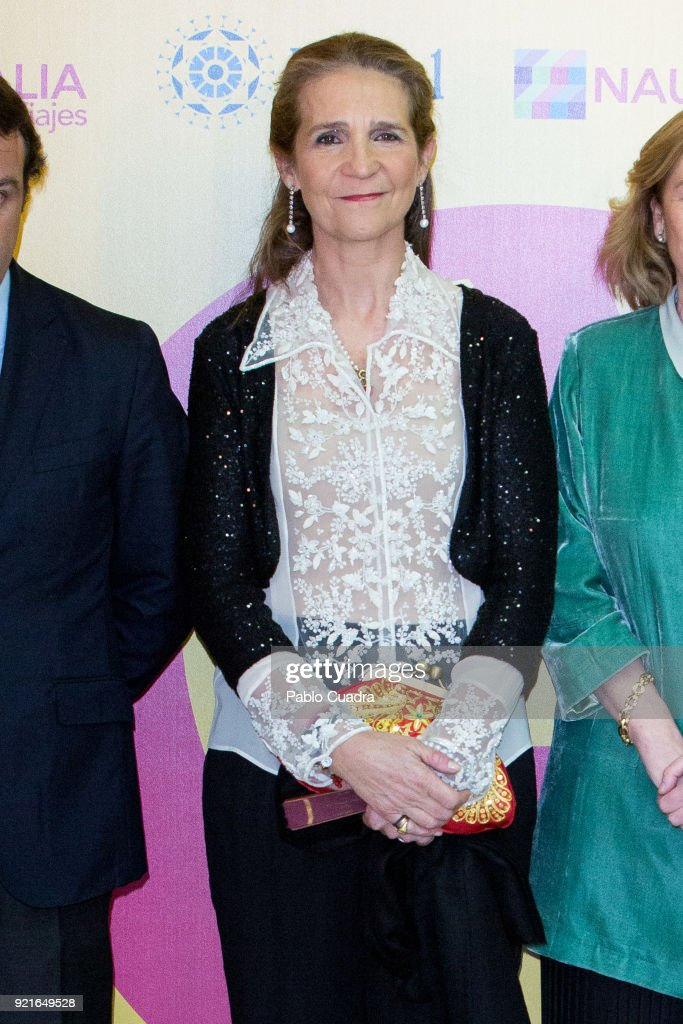 Princess Elena of Spain attends the 'Premio Taurino ABC' awards at the ABC Library on February 20, 2018 in Madrid, Spain.