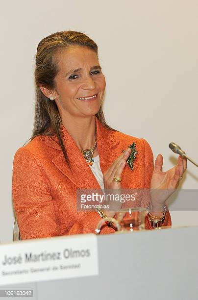 Princess Elena of Spain attends the signature of the Rare Diseases Pharmaceuticals Cooperation Proyect on October 27, 2010 in Madrid, Spain.