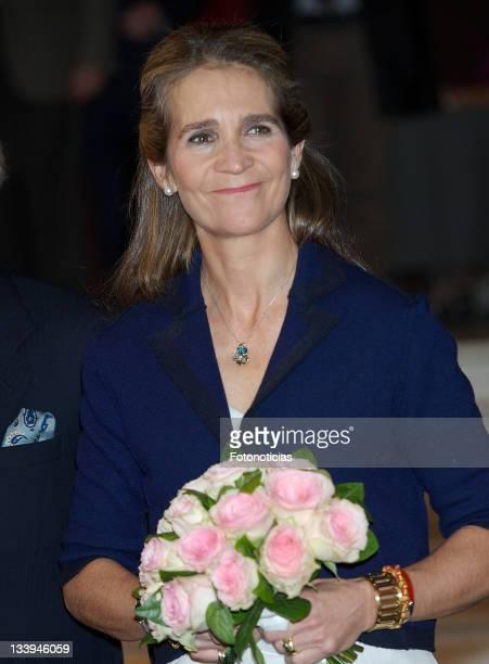 Princess Elena of Spain attends the Special Olympics Espana award ceremony at Casa de America on November 22 2011 in Madrid Spain
