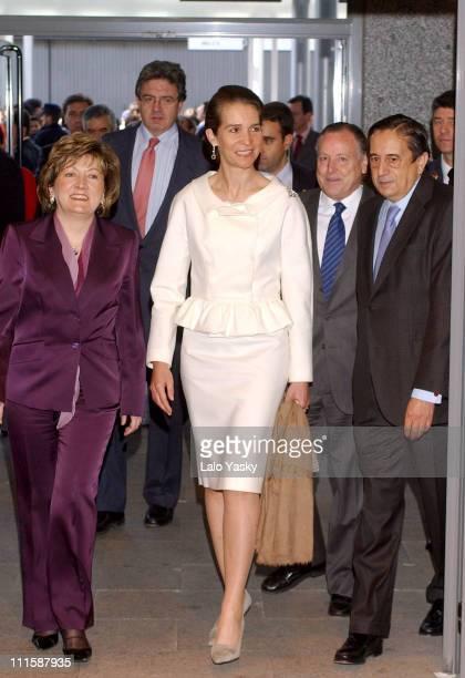 Princess Elena of Spain during 'Salon Internacional del Estudiante' Opening at IFEMA in Madrid Spain