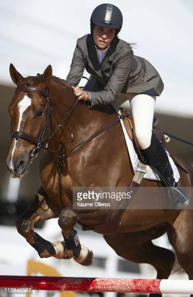 Princess Elena of Spain in action during day three of Global Champions Tour competition at the Ciudad de las Artes y las Ciencias on May 8 2011 in...