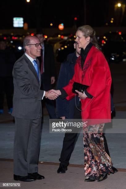 Princess Elena of Spain is seen attending the 'San Isidro 2018' bullfights fair presentation at Las Ventas Bullring on March 7 2018 in Madrid Spain