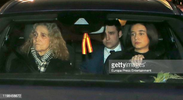 Princess Elena of Spain Juan Froilan de Marichalar y Borbon and Victoria Federica de Marichalar y Borbon attend Princess Pilar de Borbon Funeral...