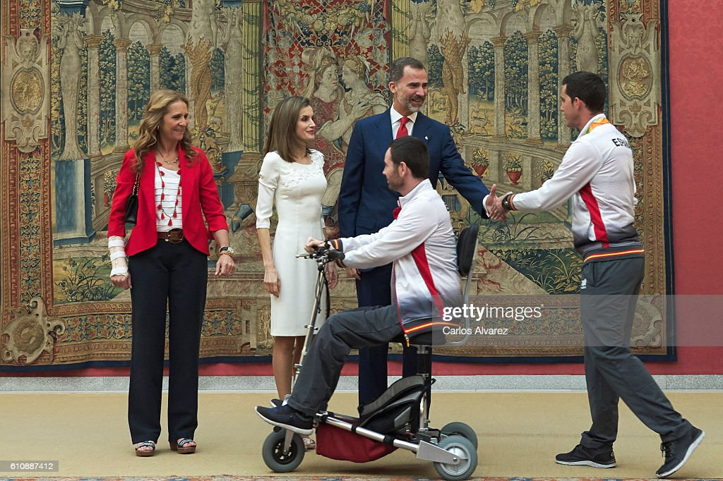 Spanish Royals Receive Rio 2016 Paralympic Medalists : News Photo