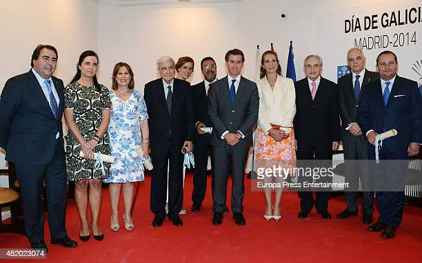 Princess Elena of Spain Maria Castro and Alberto Nunez Feijoo attend Galicia Day in Madrid on July 10 2014 in Madrid Spain
