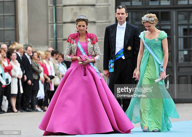 Princess Elena of Spain Princess Cristina of Spain and Inaki Urdangarin attend the wedding of Crown Princess Victoria of Sweden and Daniel Westling...