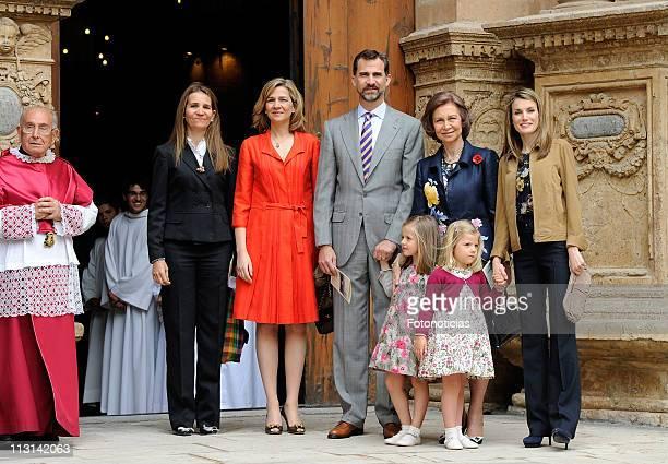 Princess Elena of Spain, Princess Cristina of Spain, Prince Felipe of Spain, Infanta Leonor of Spain, Queen Sofia of Spain, Infanta Sofia of Spain...
