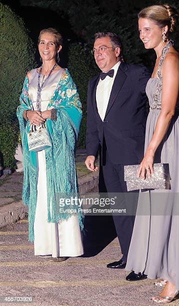 Princess Elena of Spain Victoria de BorbonDos Sicilias and Markos Nomikos attend private dinner to celebrate the Golden Wedding Anniversary of King...