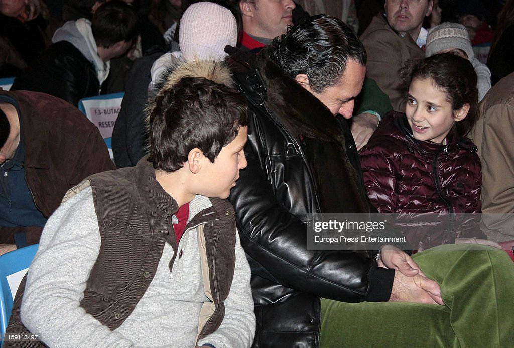 Princess Elena of Spain's ex husband, Jaime de Marichalar, his son Felipe Juan and daughter Victoria Federica attend the procession of the Wise Men on January 5, 2013 in Madrid, Spain.