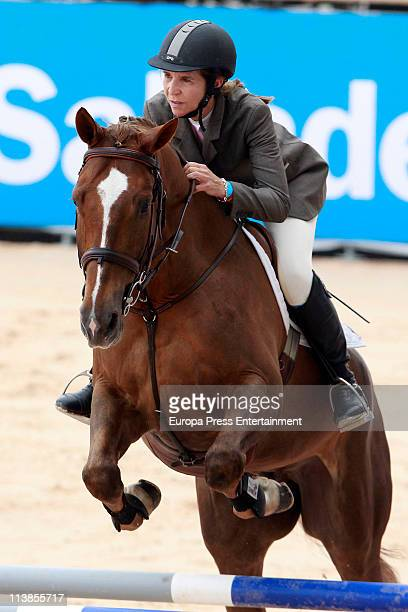 Princess Elena rides during the Global Champions Tour 2011 on May 8 2011 in Valencia Spain