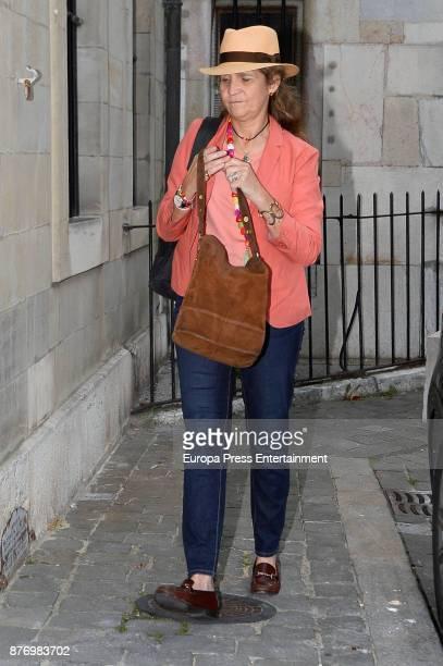 Princess Elena visits Juan Valentin Urdangarin the day of his 18th birthday on September 29 2017 in Geneva Switzerland