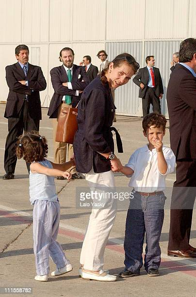Princess Elena with daughter Victoria Federica and son Felipe Juan Froilan