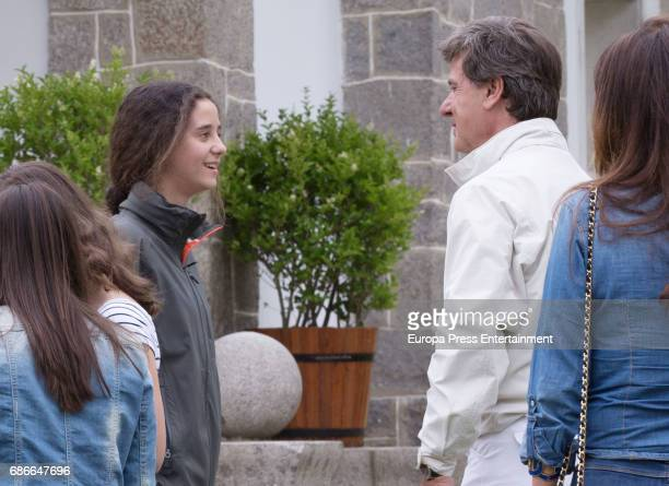 Princess Elena's daugther Victoria Federica de Marichalar and Cayetano Martinez de Irujo attend the Global Champions Tour tournament on May 21 2017...
