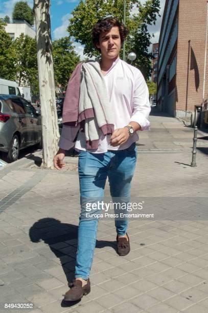 Princess Elena's son Felipe Juan Froilan de Marichalar is seen arriving at University on September 18 2017 in Madrid Spain