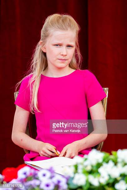 Princess Eleonore of Belgium attends the military parade during Belgian National Day on July 21 2019 in Brussels Belgium