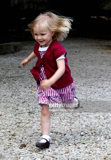 Princess Eleonore of Belgium photographed at the educational centre 'Archeosite' on July 8 2011 in Aubechies Belgium