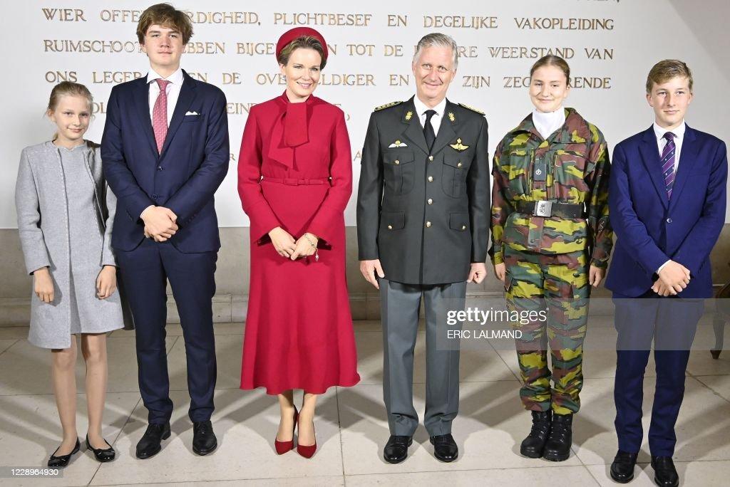 BELGIUM-MILITARY-ROYALS : News Photo