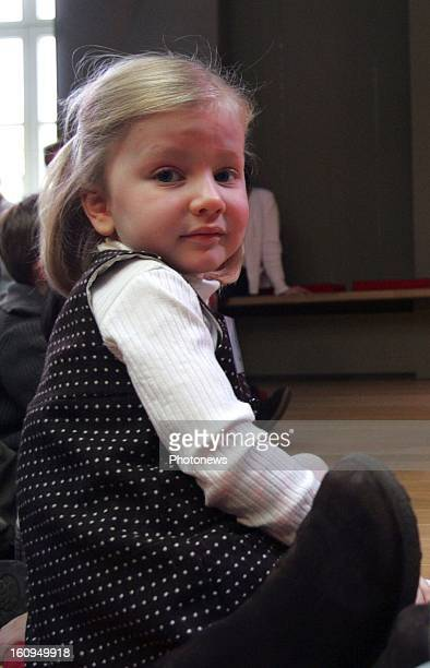 Princess Elisabeth accompagnies her mother Princess Mathilde to a reading afternoon organized by the foundation 'Reading' on November 22 2006 in...
