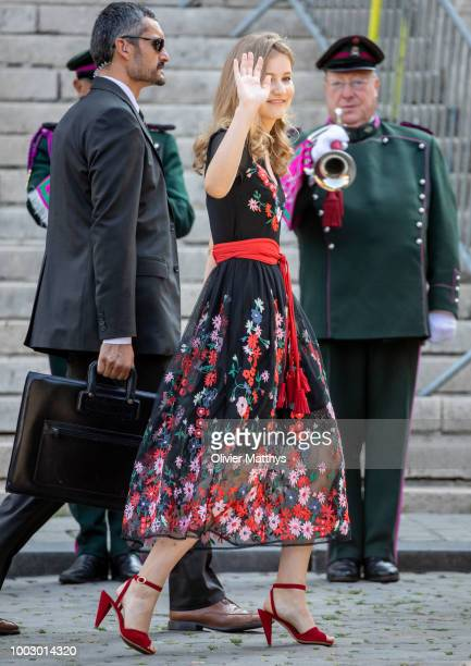 Princess Elisabeth attends the Te Deum at the Saint Gudule and Michel Cathedral on July 21 2018 in Brussel Belgium