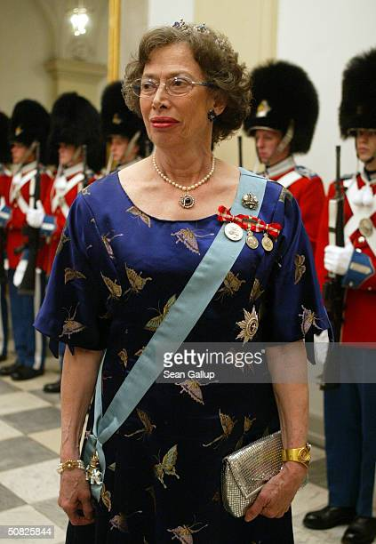 Princess Elisabeth cousin of Queen Margrethe II of Denmark attends a celebratory dinner at Christiansborg Palace on May 11 2004 in honor of the...