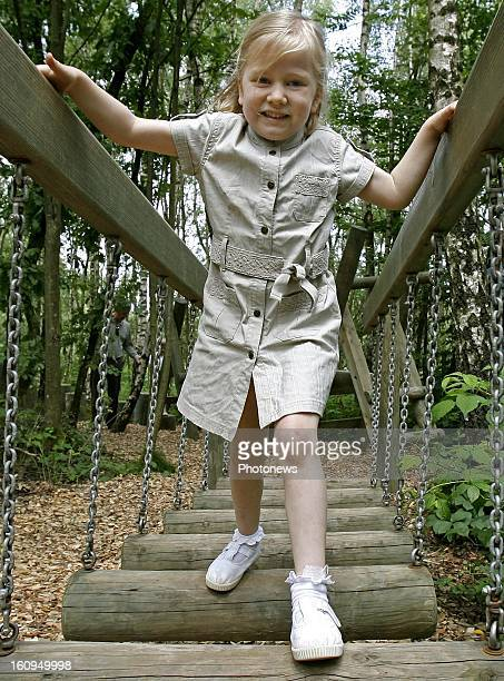Princess Elisabeth of Belgium and her family on a day trip to the recreation park of Manhay on July 16 2007 in Dochamps Belgium