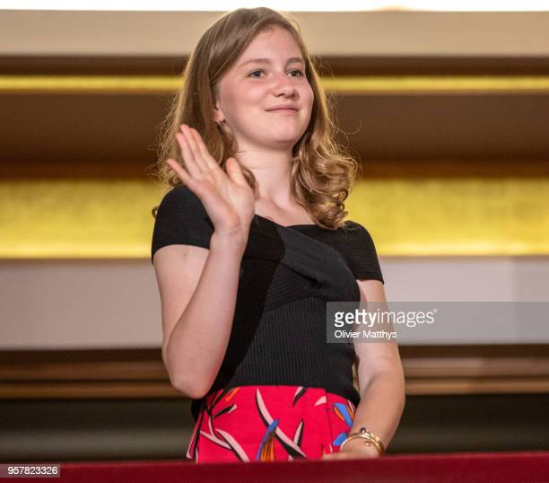 Princess Elisabeth of Belgium attends the finals of the Queen Elisabeth Contest in the Bozar on May 12 2018 in Brussels Belgium