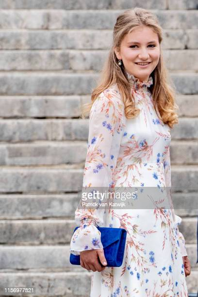 Princess Elisabeth of Belgium attends the National Day Of Belgium 2019 on July 21, 2019 in Brussels, Belgium.