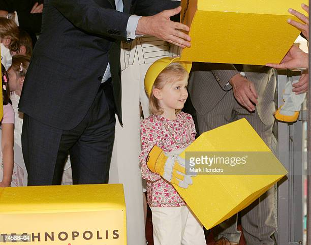 Princess Elisabeth of Belgium attends the opening of a new Technopolis youth interactive in Malines, on June 13 , 2007 in Brussels, Belgium.